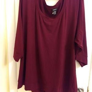 Wine 3/4 Sleeve Shirt